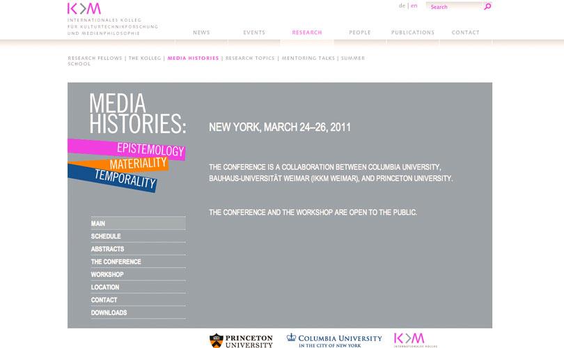 Konferenz-Subwebsite