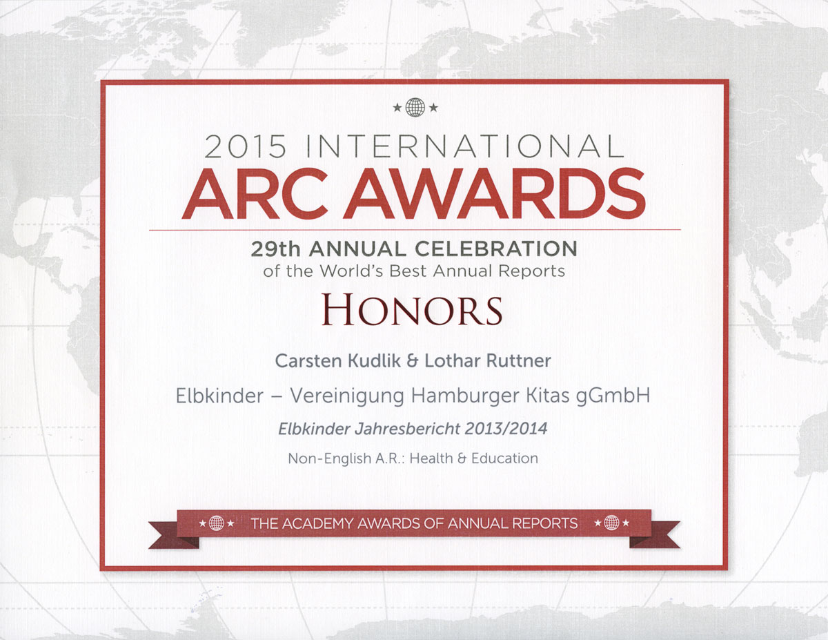 Honors, ARC Awards 2015