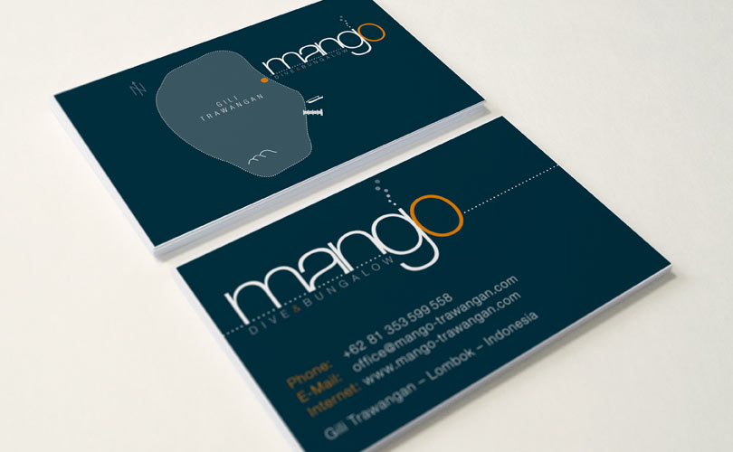 Mango Dive & Bungalow – Visitenkarten