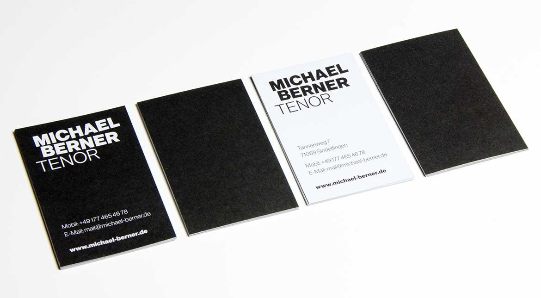 Michael Berner, Visitenkarten
