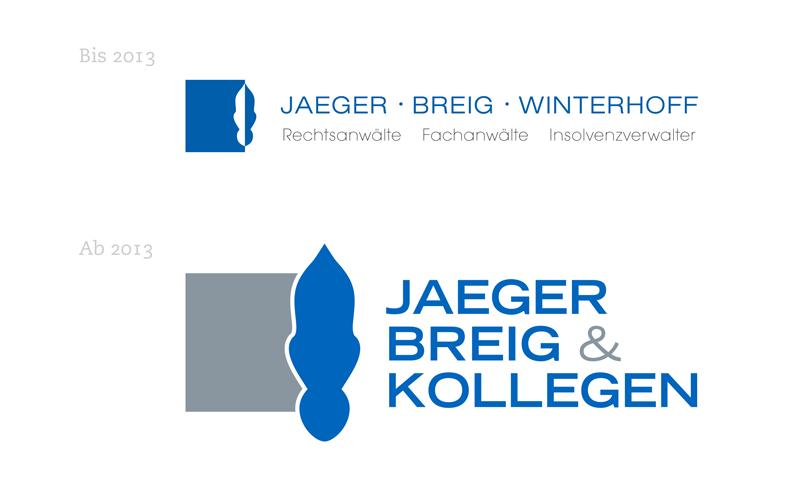 Jaeger Breig & Kollegen – Relaunch des Logos