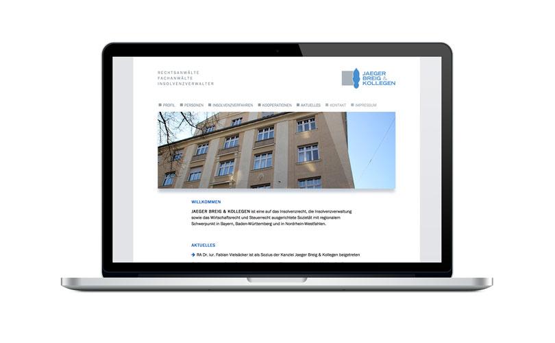 Jaeger Breig & Kollegen – Website