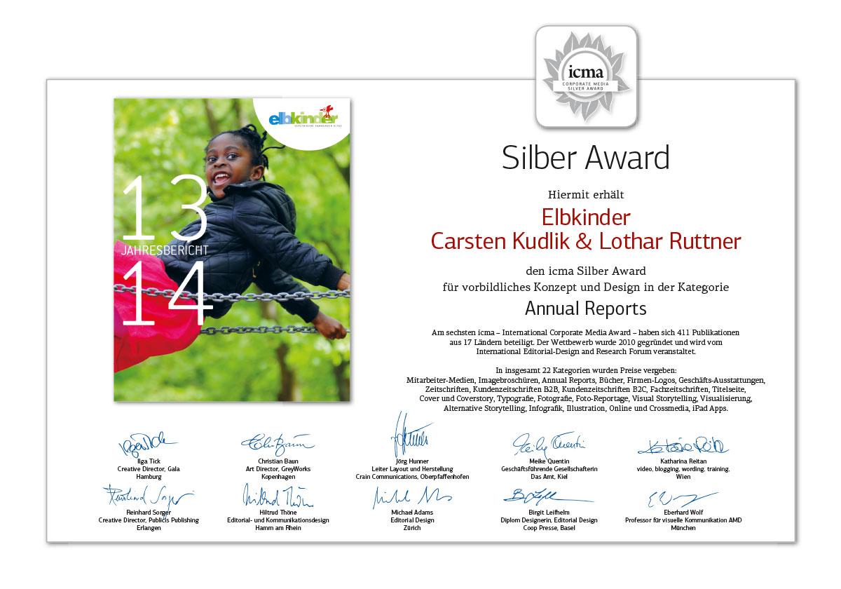 Silber Award –6. ICMA 2015